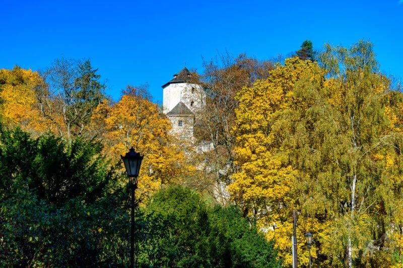 Zamek w Ojcowie w jesiennej odsłonie