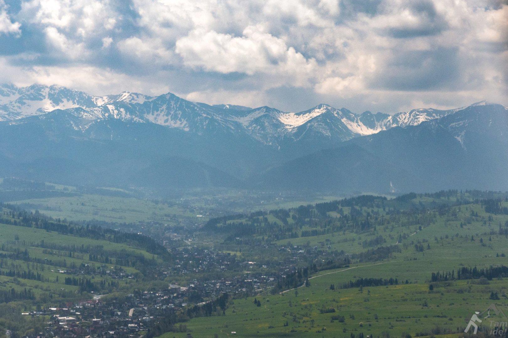 Widok na Tatry znad Podhala