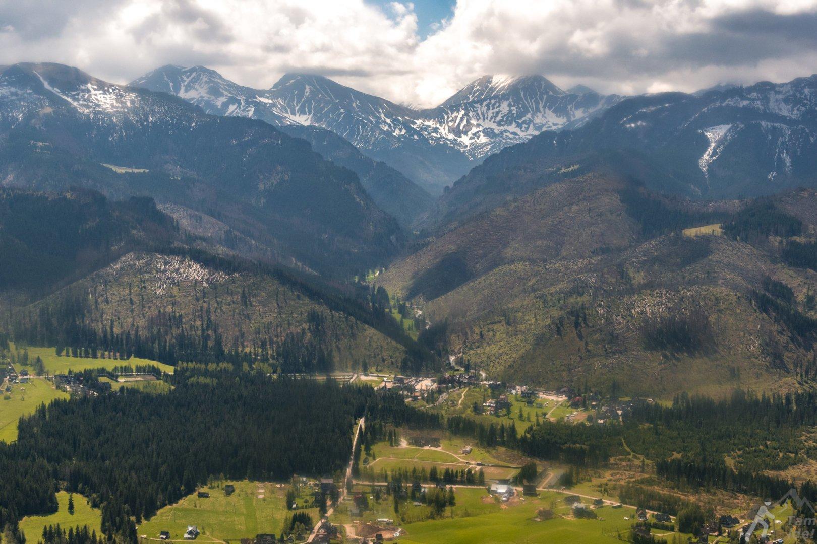 Dolina Kościeliska panorama z góry