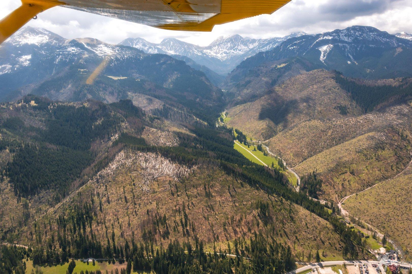 Dolina Kościeliska panorama z góry loty widokowe