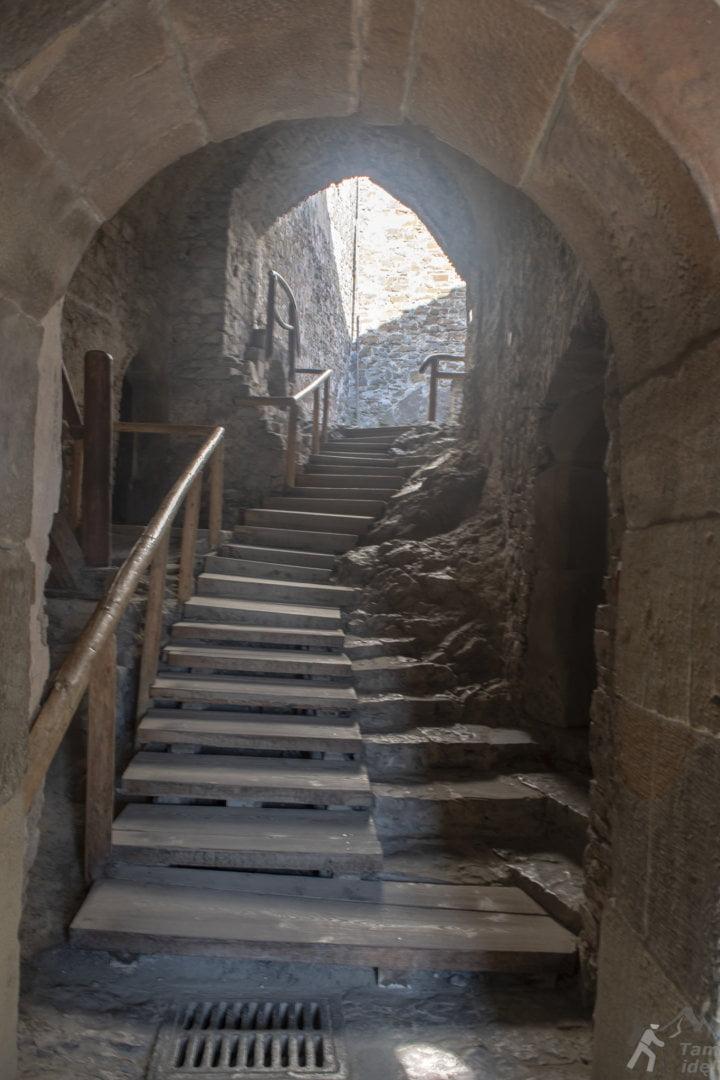 Korytarze w zamku Niedzica