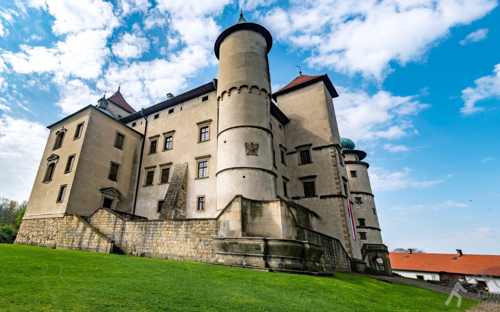 Zamek w Nowym Wiśniczu widok z dziedzińca
