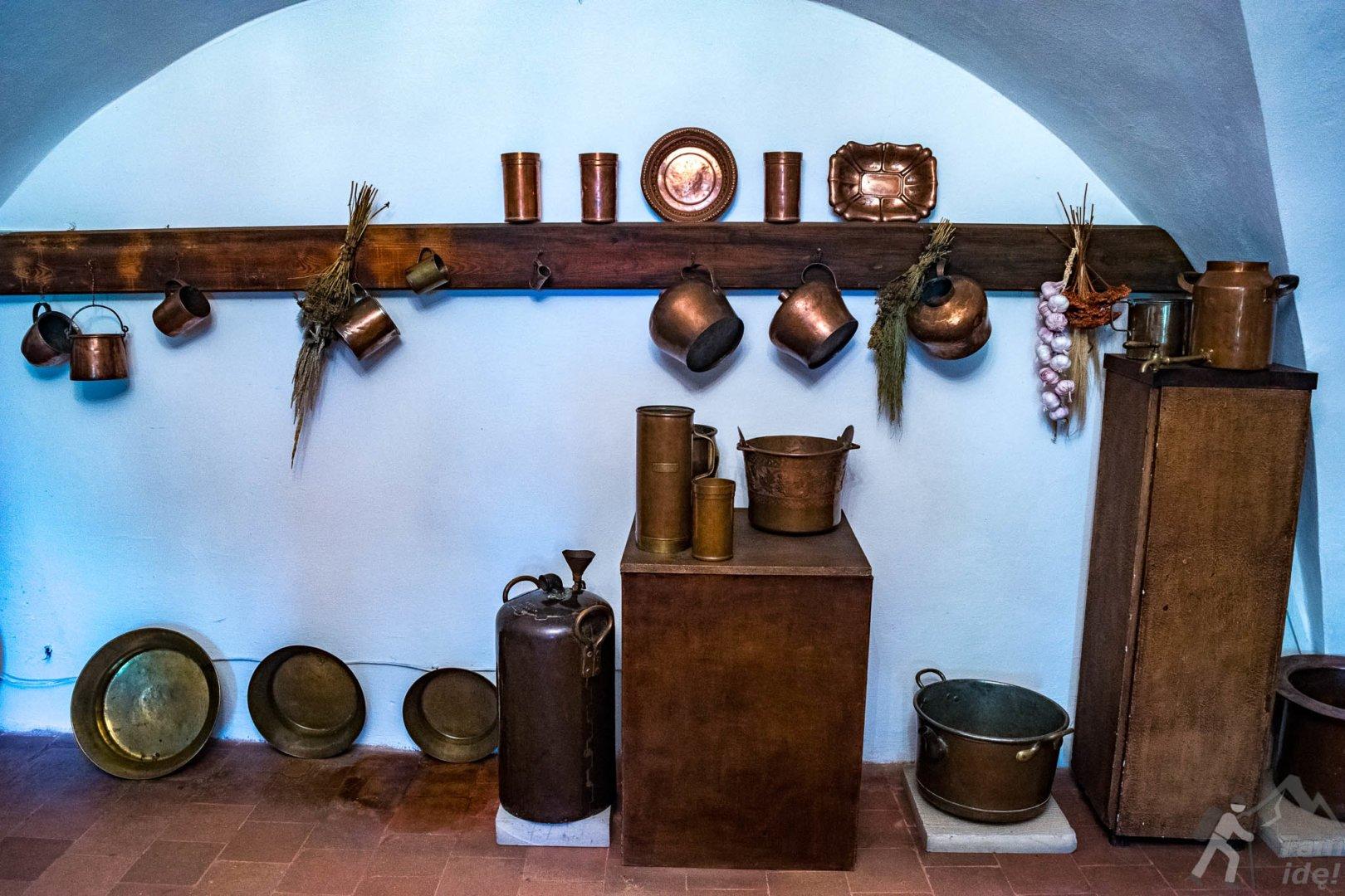 Kuchnia na zamku w Wiśniczu