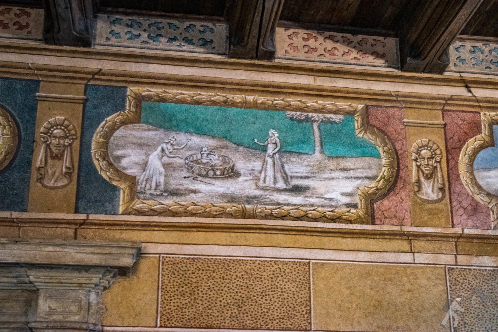 Freski na zamku w Wiśniczu