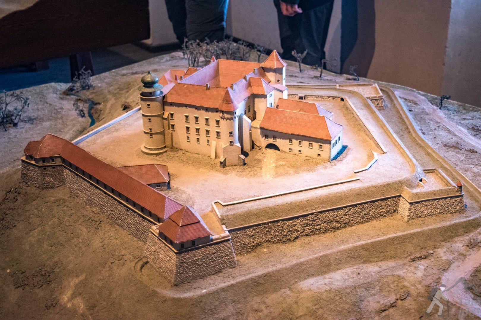Makieta zamku w Wisniczu