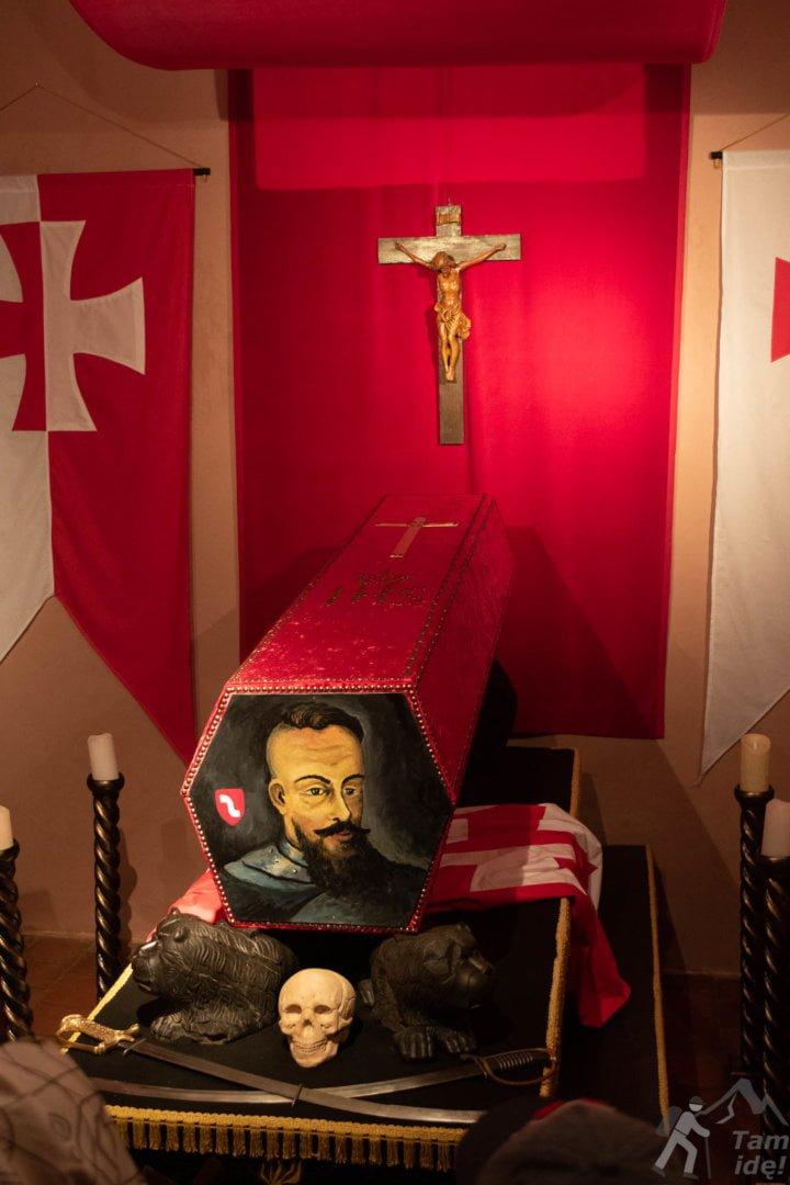 Wystawa pogrzebowa na zamku w Wiśniczu