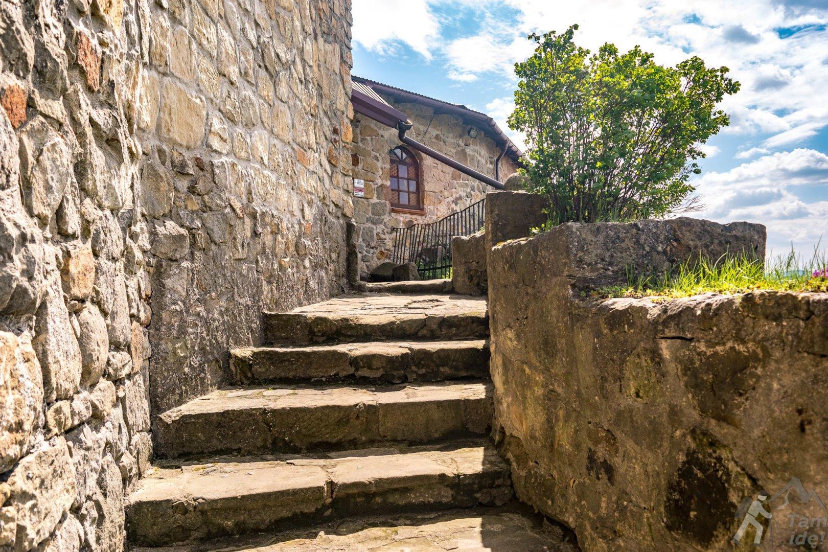 Zamek w Dobczycach dziedziniec