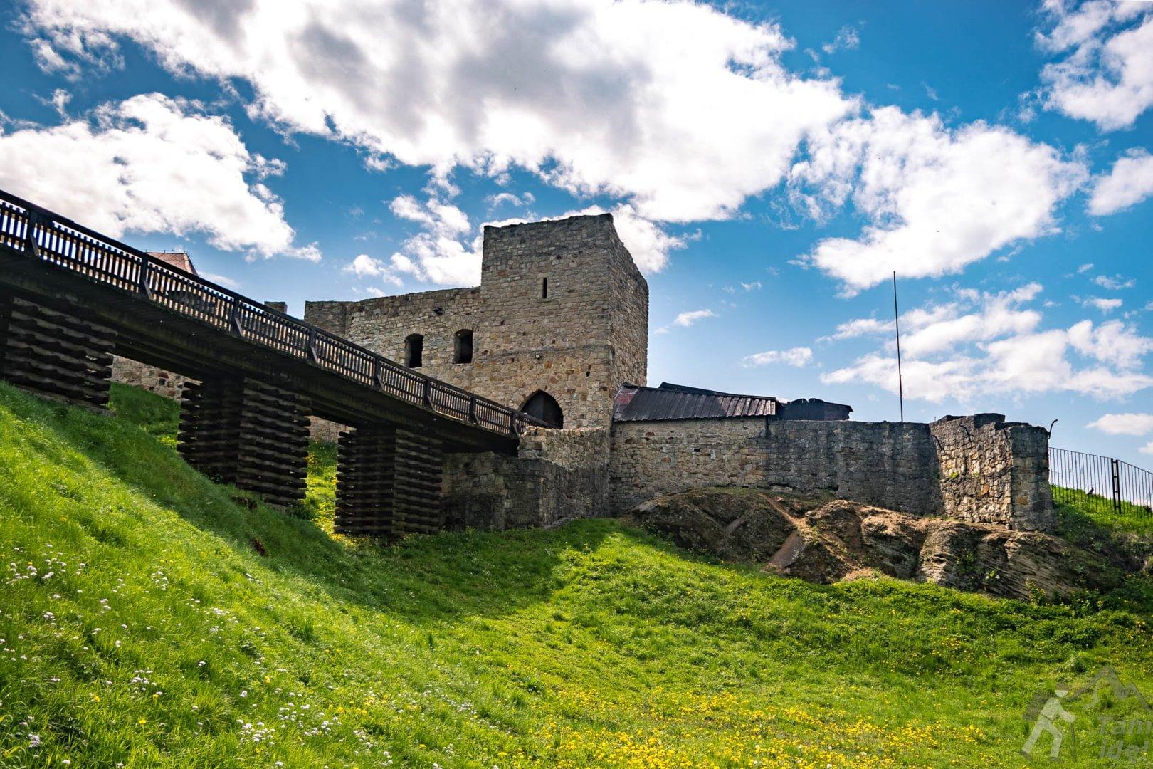Zamek w Dobczycach od strony żółtego szlaku