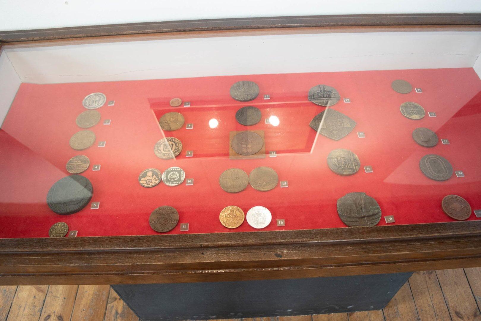 Wystawa monet na zamku w Będzinie