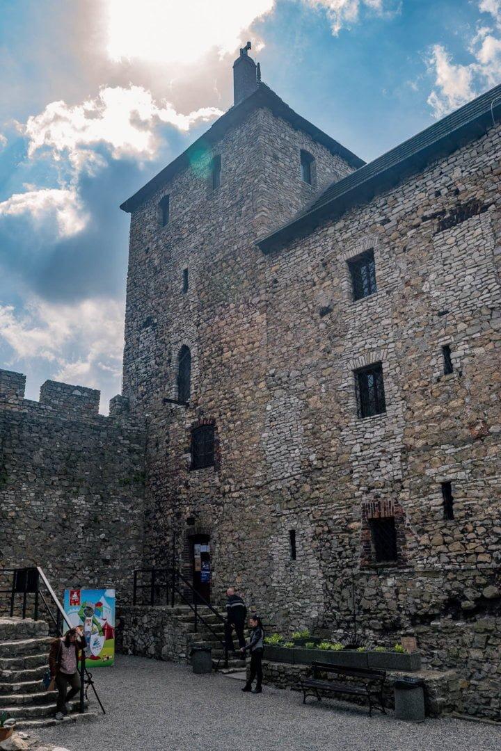 Dziedziniec zamku w będzinie