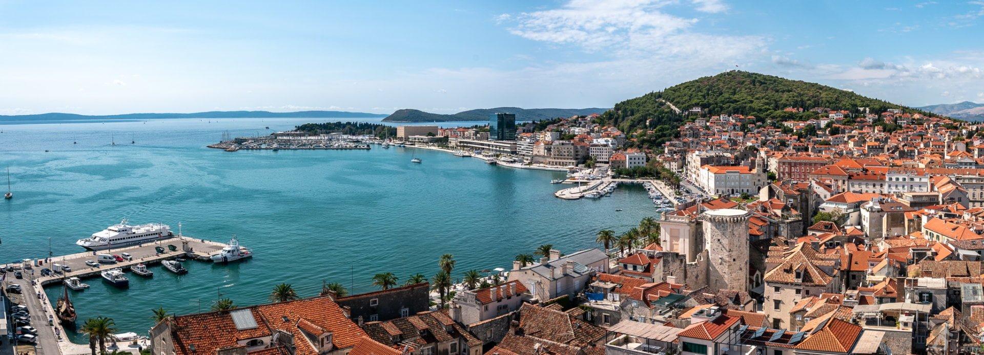 Split - panorama portu