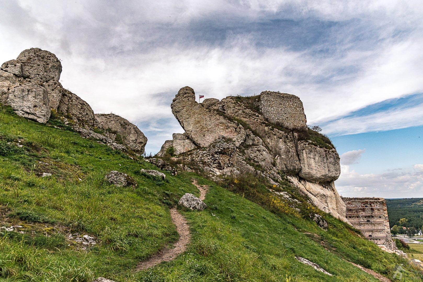 Skały Jurajskie i wzgórze zamkowe